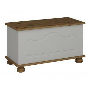 Thornton Grey Blanket Storage Box