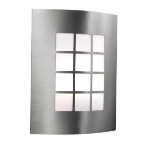 Led Outdoor & Porch Wall Light - Stainless Steel 1lt BPOSL581