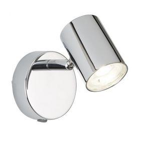 (Dim) 1 Light Cylinder Head Spot Wall Bracket, Chrome BPOSL586