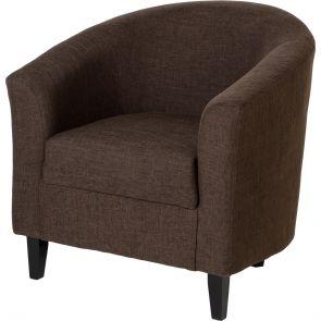 Taylor Tubs Tub Chair - Brown Fabric