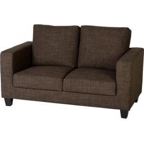 Cameron Sofas 2 Seater - Brown Fabric