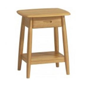Retro Dining Lamp Table With Drawer
