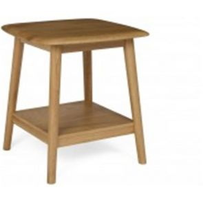 Retro Dining Lamp Table With Shelf