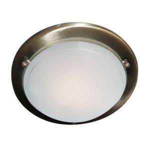 Flush Ant/Brass 30cm Flush C/Ftg BPOSL1134