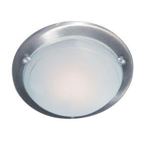Flush Satin Silver 30cm Flush C/Ftg BPOSL1136