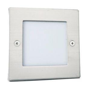 Led Recessed Indoor & Outdoor Light Square Chrome - White Led BPOSL1535