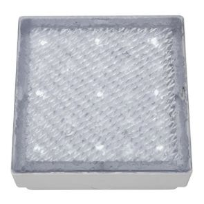 Led Outdoor & Indoor  Recessed Walkover Clear Small Square - White Led BPOSL1538