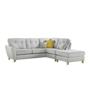 Christie  Large 1 Arm Corner Group w/Chaise Footstool