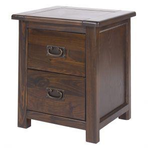 Bali 2 Drawer Wide Bedside Cabinet