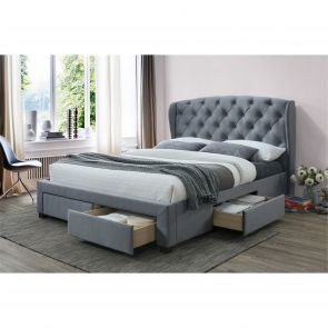 Helana Fabric Storage bed