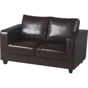 Cameron Sofas 2 Seater - Brown PU Leather