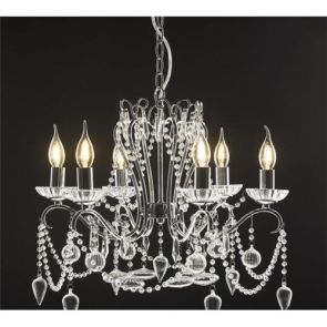 Click And Collect 6 light Chandelier