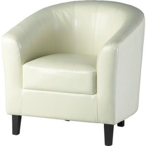 Taylor Tubs Tub Chair - Cream PU
