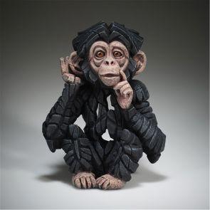 "Edge Sculpture Baby Chimpanzee ""Hear no Evil"""