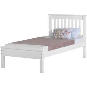 Newquay 3' Single White Bed Frame LFE