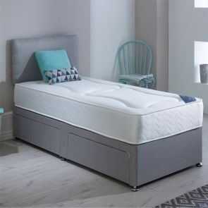 Single Milan Deluxe Divan Bed including 2 FREE Drawers and Headboard