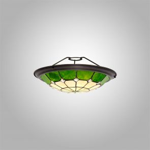 Alysia, 35cm Non-Electric  Shade, Crachel/Green/Clear Crystal Centre IL7327HS