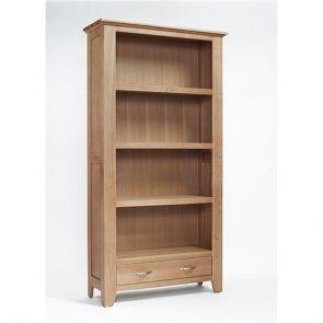 Kingsbridge Dining Tall Wide Oak Bookcase