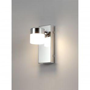 Britanora Wall Lamp Single Adjustable, 1 x 5W LED, 4000K, 415lm, IP44, Polished