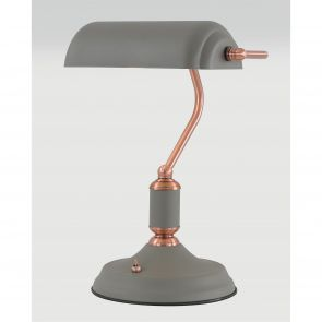 Bronx Table Lamp 1 Light With Toggle Switch, Sand Grey/Copper IL2007HS