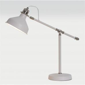 Bronx Adjustable Table Lamp, 1 x E27, Sand White/Satin Nickel/White IL6007HS
