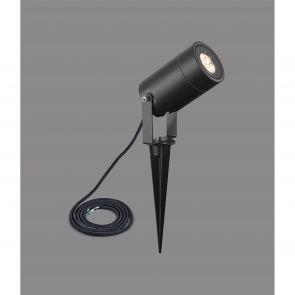 Paulina Ceiling, 1 Light Adjustable Arm, 1 x 5W LED, 3000K, 310lm, Black/Satin C