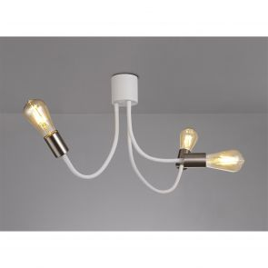 Grace Flexible Ceiling 3 Light E27 Satin White/Satin Nickel IL2567HS