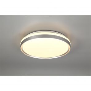 Kara Ceiling 39cm, 1 x 24W LED, 3 Step-Dimmable, 3000K, 1000lm, IP44, Silver/Whi