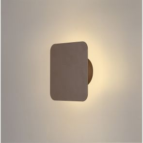 Melody Magnetic Base Wall Lamp, 12W LED 3000K 498lm, 15cm Square, Coffee IL5140K
