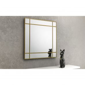 Mirrors Farringdon Gold Square Wall Mirror