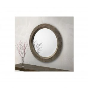 Mirrors Chiswick Large Round Pewter Wall Mirror