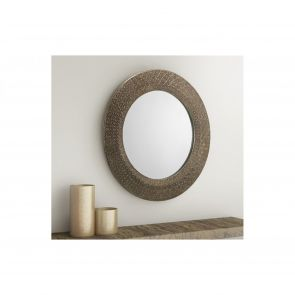 Mirrors Chiswick Small Round Pewter Wall Mirror