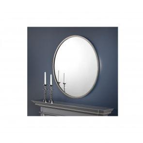 Mirrors Oxford Round Pewter Wall Mirror