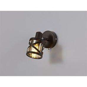 Naomi 3 Light Round Spotlight E14,  Bronze/Polished Chrome/Amber IL3418HS