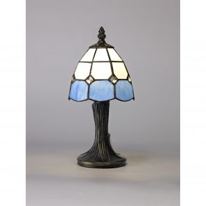 Oona Table Lamp, 1 x E14, White/Blue/Clear Crystal Shade IL6217HS