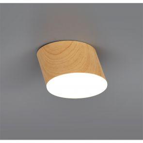 Petra Spotlight 10.5cm Round 1 x 10W LED, 3000K, 700lm, Pine Wood,     IL7837HS