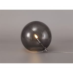 Rylee Table Lamp, 1 x G9, Polished Chrome/Smoked Glass IL0667HS