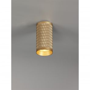 Sienna 11cm Surface Mounted Ceiling Light, 1 x GU10, Champagne Gold IL6108HS